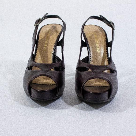 Emporio Armani Shoes - Emporio Armani - Plum Leather Pumps